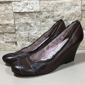 Seychelles Wedge Heel Shoes 7.5 Leather Brown